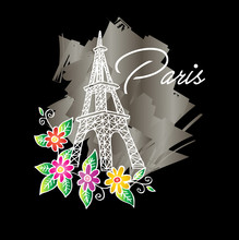 Eiffel Tower With Floral
