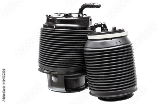 Fotografía  cylinder pneumatic, air suspension isolated on white background