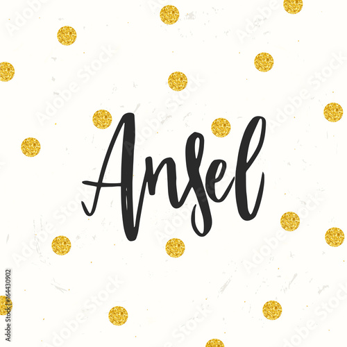 Photo Hand drawn calligraphy personal name Ansel