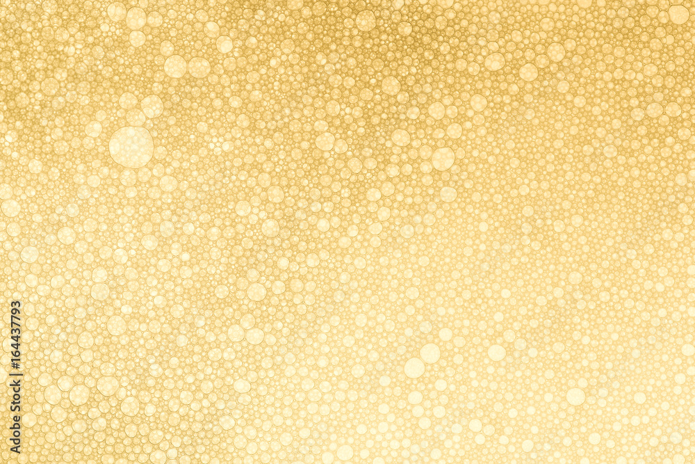 Fototapety, obrazy: Golden Bubbles Background