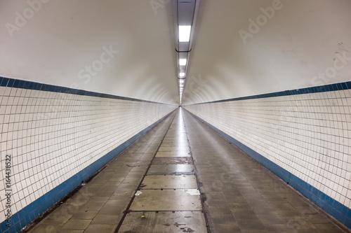 Inside the Sint-Anna Pedestrian Tunnel