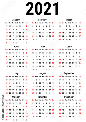 Poster  Calendar for 2021