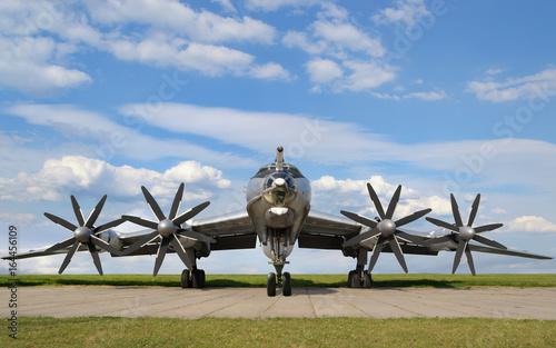 Leinwand Poster Military bomber plane