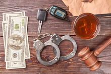 Money, Handcuffs, Whiskey, Key...