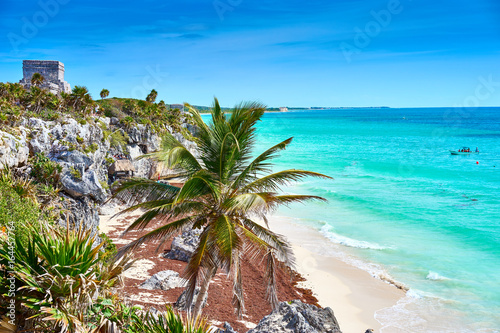 Foto op Canvas Mexico Ruins of Tulum / Caribbean coast of Mexico - Quintana Roo - Cancun - Riviera Maya