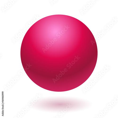 In de dag Bol Pink glossy ball vector illustration