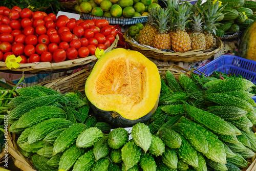 Foto  Rural market in Mahebourg, Mauritius