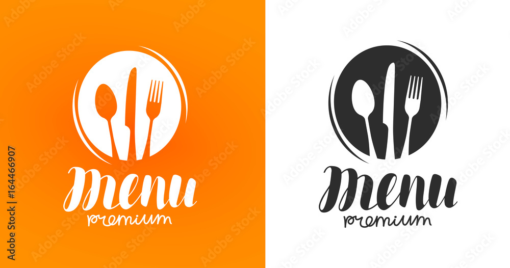 Fototapety, obrazy: Cooking, cuisine logo. Icon and label for design menu restaurant or cafe. Lettering, calligraphy vector illustration