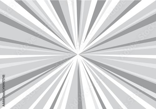 Plakat Abstrakcjonistyczna promieniowa szara zoom prędkość dla komicznej tło wektoru ilustraci.