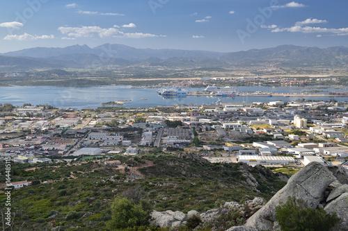 Fotografie, Tablou Blick auf Olbia in Sardinien