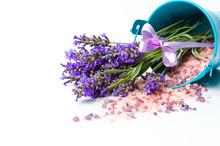 Lavender Flowers And Bath Salt...