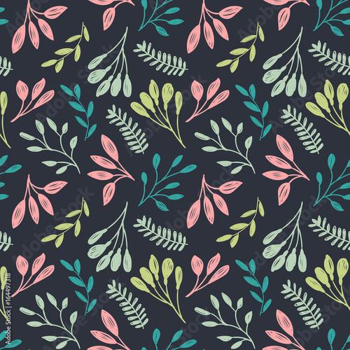kwiatowy-wzor-lisci-ciemny-wektor-wzor