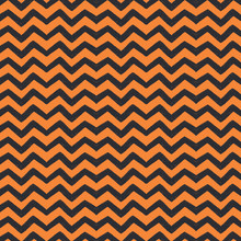 Orange And Black Chevron Hallo...