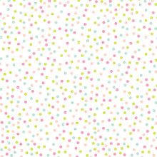 Pastel Rainbow Polka Dot Abstr...