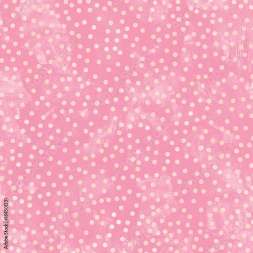 Zdjęcie XXL Różowa polka dot streszczenie tekstura tło akwarela