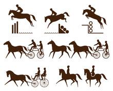 Set Of Equestrian Logo - Event...