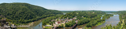 Wide Panorama Overlooking Harpers Ferry, West Virginia from Maryland Heights © justinfegan