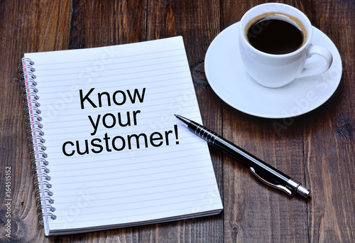 Photo  Know your customer on notebook