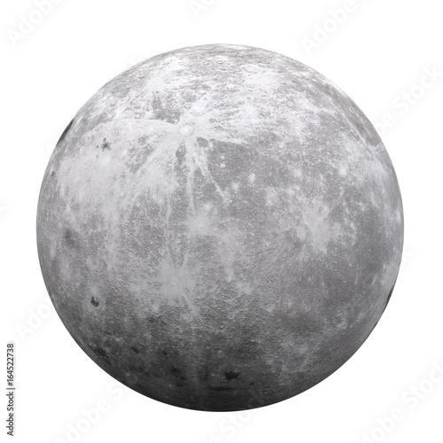 Plakat Full Moon Isolated (Elementy tego zdjęcia dostarczone przez NASA)