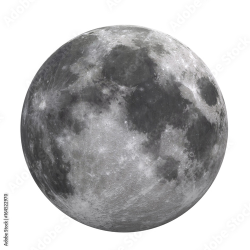 Obraz Full Moon Isolated  (Elements of this image furnished by NASA) - fototapety do salonu