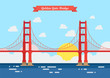Flat style Golden Gate Bridge