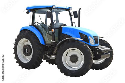 Zdjęcie XXL Rolniczy ciągnik odizolowywający na białym tle
