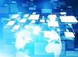 Concept of Global business network. 3d illustration.