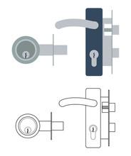 Door Lock Mechanism With Handl...