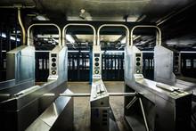 Underground Subway Gates In Ne...