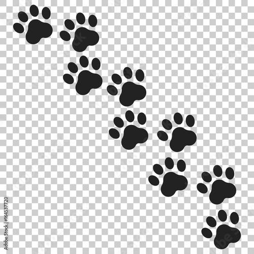 Leinwand Poster Paw print vector icon