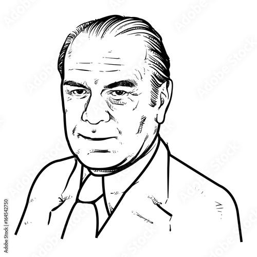 фотография  Gerald Ford Vector illustration, Gerald Ford Drawing outline, 38th U