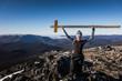 Happy Woman Enjoying the Success of the Richardson Mountain's Summit