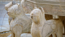 Famous Lion Fountain Detail In...