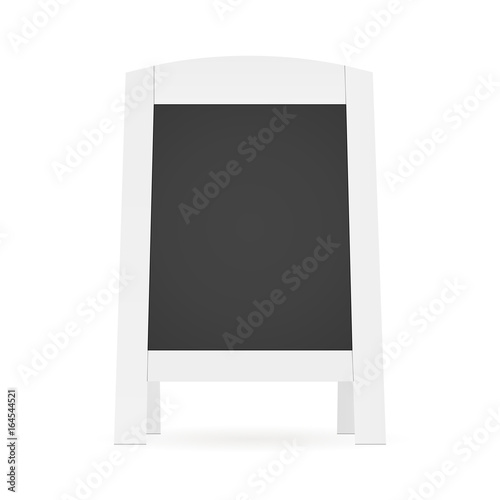 White blank street menu board - front view. Mockup for apply ...