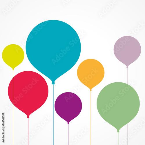 Photo  ballons colorés