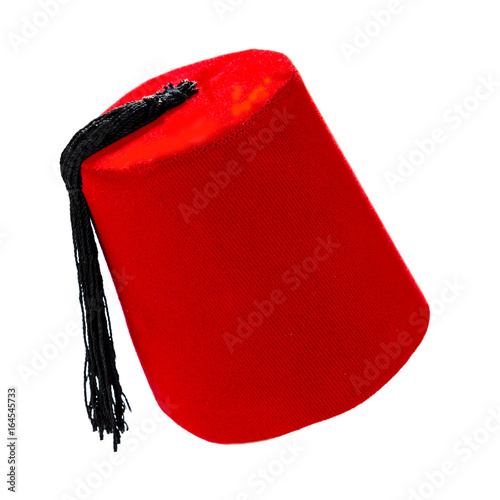Fotografía  Traditional Turkish hat called fez isolated on white background.