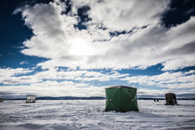 Ice Smelt Fishing Shack During...