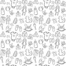 Baby Seamless Pattern Background Set