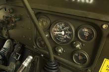 Dashboard Of A Ww2 Jeep