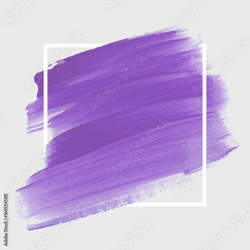 Logo brush painted acrylic abstract background design illustration vector over square frame Tapéta, Fotótapéta