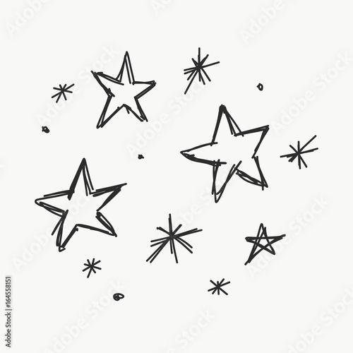 Cuadros en Lienzo gezeichnete Sterne