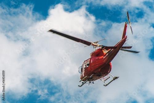 Fotografie, Obraz  Helicopter Logging in the Air