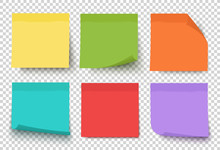 Multicolor Post It Notes Isola...