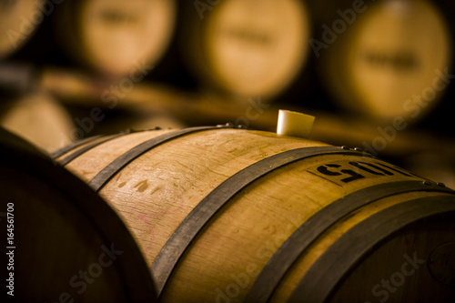 Tableau sur Toile Wine Barrels