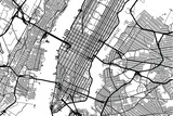 Vector city map of New York  - 164562359