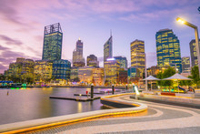 Downtown Perth Skyline In Aust...