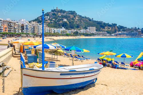 Foto  Blanes beach. Costa Brava, Catalonia, Spain