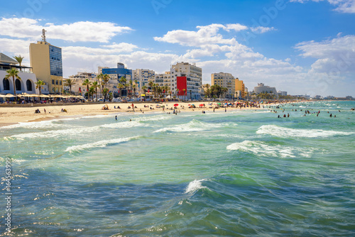 Poster Tunesië Urban beach in Sousse. Tunisia, North Africa