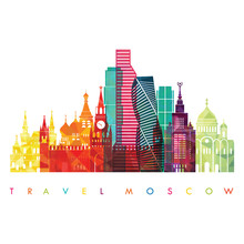 Moscow Detailed Skyline . Vect...
