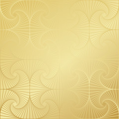 Gold gradient greeting seamless pattern. Vector arabic ornate geometric shini...